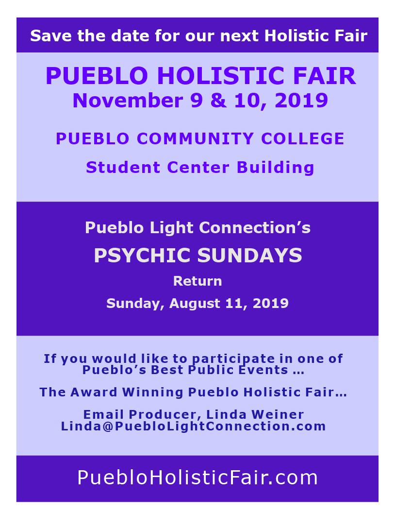 Program of Participants - Welcome to the Pueblo Holistic Fair